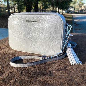 New Michael Kors Leather Camera Bag Crossbody